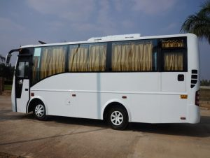 Mini bus coach rental online bus booking service one way coach outstation